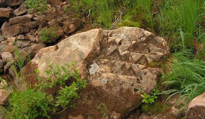 В Якутии обнаружился камень с таинственным орнаментом