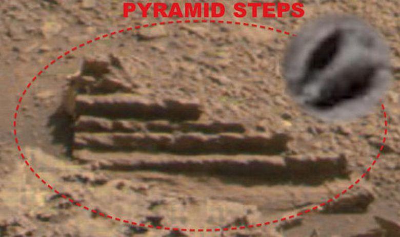 Ступеньки здания обнаружены на Марсе