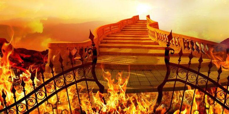 Огненная лестница, спустившаяся прямо с небес