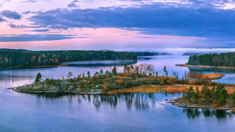 Загадочные огни над Ладожским озером