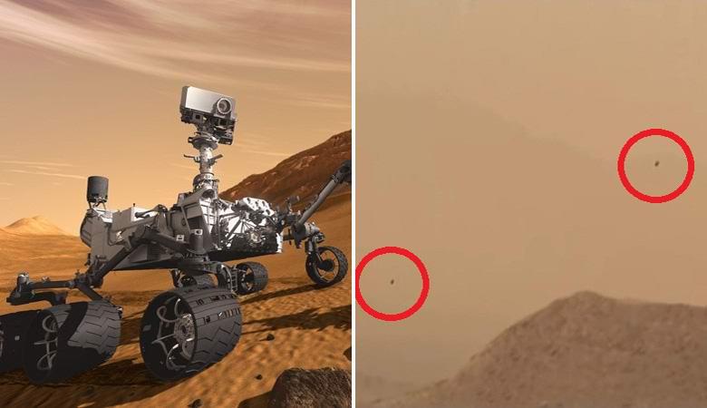 Ровер Кьюриосити запечатлел на Марсе «парящие аномалии»