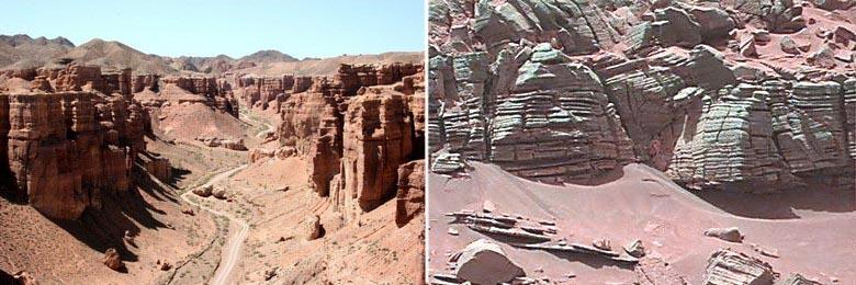 Такое ощущение, что НАСА снимает марсианские пейзажи в Казахстане