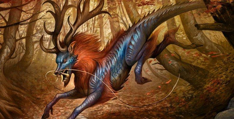 Цилинь - удивительное мифическое животное Китая, которое приносит счастье