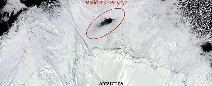 В Антарктиде снова образовалась огромная полынья
