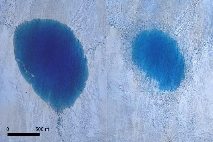 """Ученые обеспокоены появлением в Гренландии огромных водопадов"""" />"""