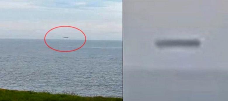 Британец снял цилиндрический НЛО