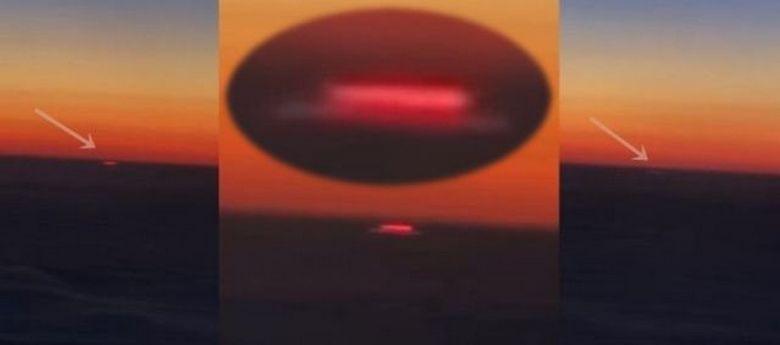 Пассажир самолета снял странное прямоугольное свечение над облаками в Казахстане