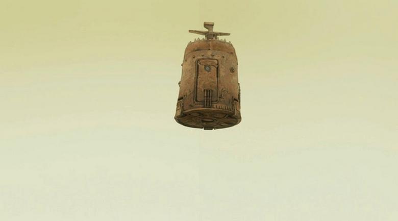 НЛО в виде летающей ступы из фильма «Кин-дза-за»